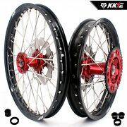 Kke 21/18 Enduro Wheels Rims Set Fit Honda Crf250x 2004 Crf450x 2017 Disc Red