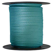 Anchor Rope Dock Line 5/8 X 400and039 Braided 100 Nylon Teal Made In Usa