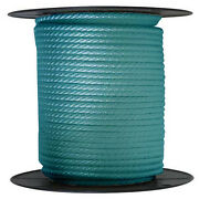 Anchor Rope Dock Line 1/2 X 50and039 Braided 100 Nylon Teal Made In Usa
