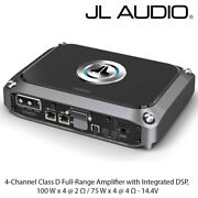 Jl Audio Vx400/4i - 4 Channel Class D Amplifier With Dsp 400w 10 Band Eq Amp