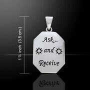Ask And Receive .925 Sterling Silver Pendant By Peter Stone