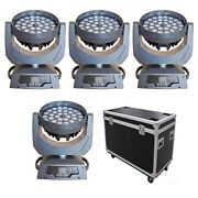 3618w Rgbwap 6 In 1 Led Moving Head Zoom Wash 4pcs Flight Case Free Shipping
