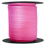 Anchor Rope Dock Line 5/8 X 400and039 Braided 100 Nylon Pink Made In Usa