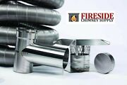Smooth Wall Flexible Chimney Liner Tee Kits W/ Many Sizes And Options Available
