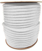 Anchor Rope Dock Line 3/8 X 400and039 Double Braided 100 Nylon White Made In Usa