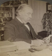Stereoview U.s. President Grover Cleveland At His Desk.
