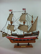 Historic Ship Golden Hind Hand Painted Ornament