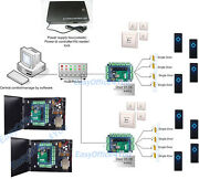 Access Control System 8 Doors Lock Ip Panel Board With 8 Readers/magnetic Locks