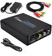 Hdmi To 3rca Av Cvbs Composite And S-video R/l Audio Converter Adapter Upscaler