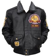 Buffalo Soldiers '1866' Mens Leather Jacket Black