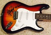 Lita Ford Signed Guitar The Runaways Autographed Strat Guitar W- Sketch And Proof