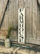 Large Rustic Wood Sign - Farmhouse Vertical - 3 Feet - Fixer Upper, Kitchen