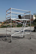 Aluminum Scaffold Rolling Tower 8and039 Deck H With Guard Rail Cbmscaffold