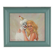 Clowns Love Pretty Girls By Anthony Sidoni 1999 Signed Oil Painting 11x13