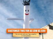 Air Inflatable Sky Puppet Great Dancer- 20 Ft Plain White