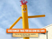 Air Inflatable Sky Puppet Great Dancer- 20 Ft Plain Yellow