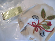 Longaberger Little Drum Flax Embroidery Liner Only 2012 Tree Trimming Basket