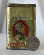 Bagleyand039s Old Colony Mixture Free Sample Size Antique Tobacco Tin Detroit Mich.