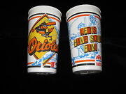 Baltimore Orioles Souvenir Beer Cup Soda Late And03980and039s Early 90and039s Memorial Stadium