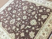 8 X 9.5 Brown Ziegler Oriental Area Rug Hand Knotted Wool All-over