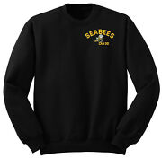 Law Enforcement Military Seabees Can Do Sweatshirt Pullover Black