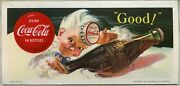 Lovely 1953 Coca-cola Advertising Ink Blotter Featuring Sprite Boy
