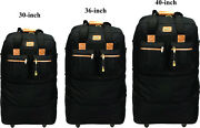 30/36/40expandable Rolling Duffel Wheeled Spinner Suitcase Luggage Heavy Duty