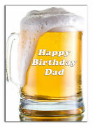 C370 Large Personalised Birthday Card Custom Made For Any Name Pint Of Beer