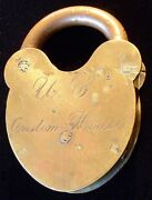 Pre-civil War Portsmouth, New Hampshire Us Custom House Padlock By D And M Co.