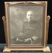 Autographed Photo Of Vice Admiral Charles S. Williams Wwi Navy Cross Recipient