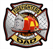 Firefighter Window Decal - Firefighters Dad Maltese Cross Decal - Various Sizes