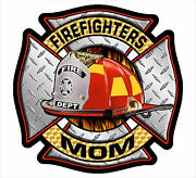Firefighter Window Decal - Firefighters Mom Maltese Cross Decal - Various Sizes
