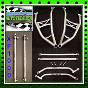 Extreme Clearance Chromoly A-arms + Radius Bars +tie Rods And03914 Rzr Xp 1000 Silver