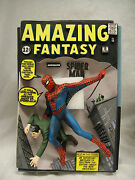 Signed By Stan Lee Marvel Amazing Fantasy Spider-man 15 3d Comic Cover Statue