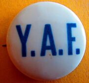 Vintage Counter Antiwar Protest Peace Pin Pinback Yaf Young Americans Freedom