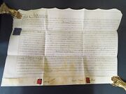 1793 Indenture With Wax Seals 15 X 22 Large On Vellum- Lease