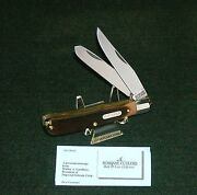Schrade 96ot Knife Old Timer 1980and039s Bearhead Trapper 4-1/8 Closed W/paperwork