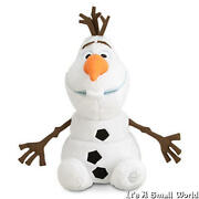 Disney Store Authentic Olaf Snowman Plush Doll Size 9 H Seated Frozen Nwt