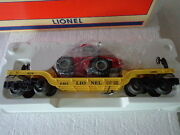 Lionel O And 0276461 Depressed Center Flat Car W/ Red Ertl Tractor