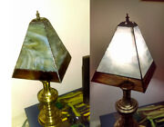 Stained Glass Lamp Shades And Candle Holders Of Variouse Sizes And Colors
