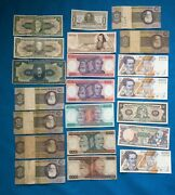 South American Bank Notes Plus Mexico 21 Notes Lot