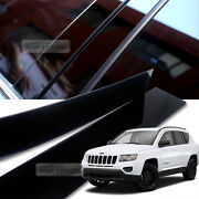 High Glossy Black Pillar Post Uv Coating Cover Trim 8pcs For Jeep 07-16 Compass