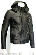 Menand039s Ghost Protocol Mission Impossible Hooded Fitted Black Napa Leather Jacket