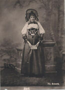 Albumen Portrait Of Swiss Woman From The City Of Bern In Traditional Costume