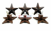 6 Star Knobs Drawer Cabinet Pulls Rustic Antique Style Rustic 2.5 With Screws