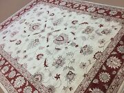 9 X 12 Beige Ziegler Oriental Are Rug Hand Knotted Wool All-over Floral