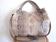 Reptileand039s House Made In Italy Phyton Leather Snakeskin Handbag 100 Authentic