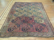 """Antique Bokhara Wool Oriental Square 7x7, 8x8 Area Rug """" Style"""""""