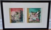 Garth Williamsorig. Framed Two Page Preliminary Cover Illustrationwatercolor