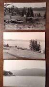 Connecticut Lakes Pittsburg Nh 3 Real Photo Postcards 1st 2nd And 3rd Conn. Lakes
